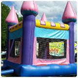 Pink Castle Inflatable Bounce House