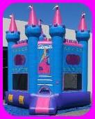 Blue Princess Inflatable Bounce House